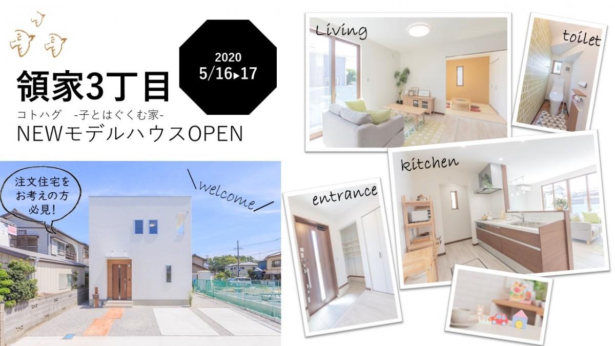 5/16㈯‣17㈰  領家3丁目 NEW OPEN 子とはぐくむ家モデルハウス